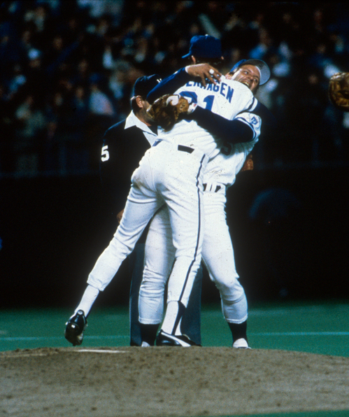 85 WS Game Seven - Bret & Brett Celebration (View 1).jpg